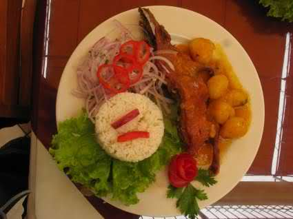 Cuy, Fried or stewed guinea pig, an Andean delicacy.