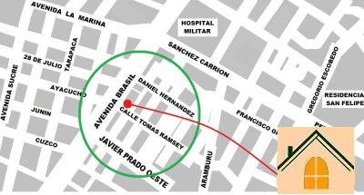 A map showing the location of La Chocita Ward.